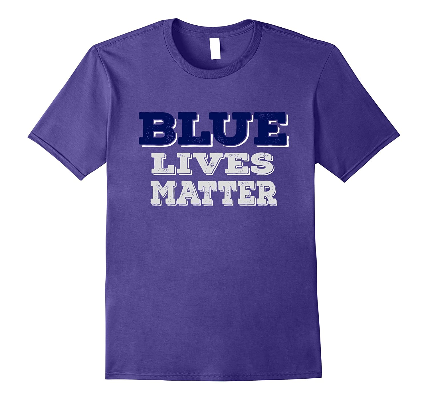Blue Lives Matter Thin Blue Line American Flag Cop T-Shirt-TJ