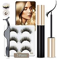 Arishine Magnetic Eyeliner and Lashes Kit, Magnetic Eyeliner for Magnetic Lashes Set, With Reusable Lashes [3 Pairs]