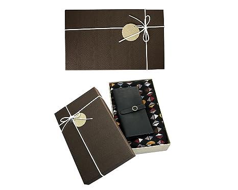emartbuy Coffret Cadeau Marron - Porte-Monnaie   Foulard - Châle, Écharpe,  Étole, Foulard De Luxe Super Doux, Chaud, Confortable, Motif Géométrique ... 6f88ed411c2