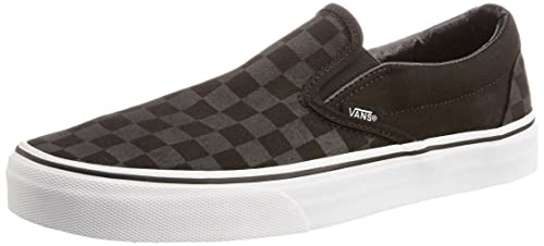 Vans Men s Classic Slip-on Checkerboard Black and Black Canvas Boat Shoes  ... 2c73d7441