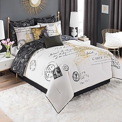 8 piece comforter set king Amazon.com: Casa Paris Gold 8 Piece Comforter Set, (King) Bed in  8 piece comforter set king