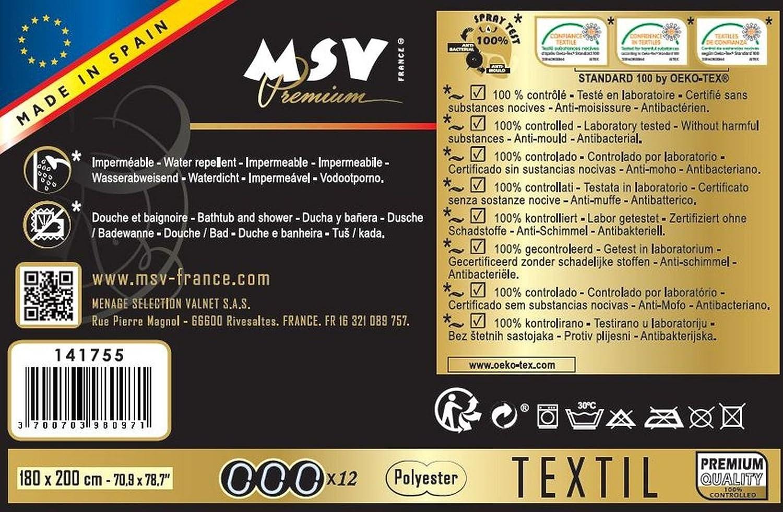 /única Multicolor MSV Cortina de Ducha
