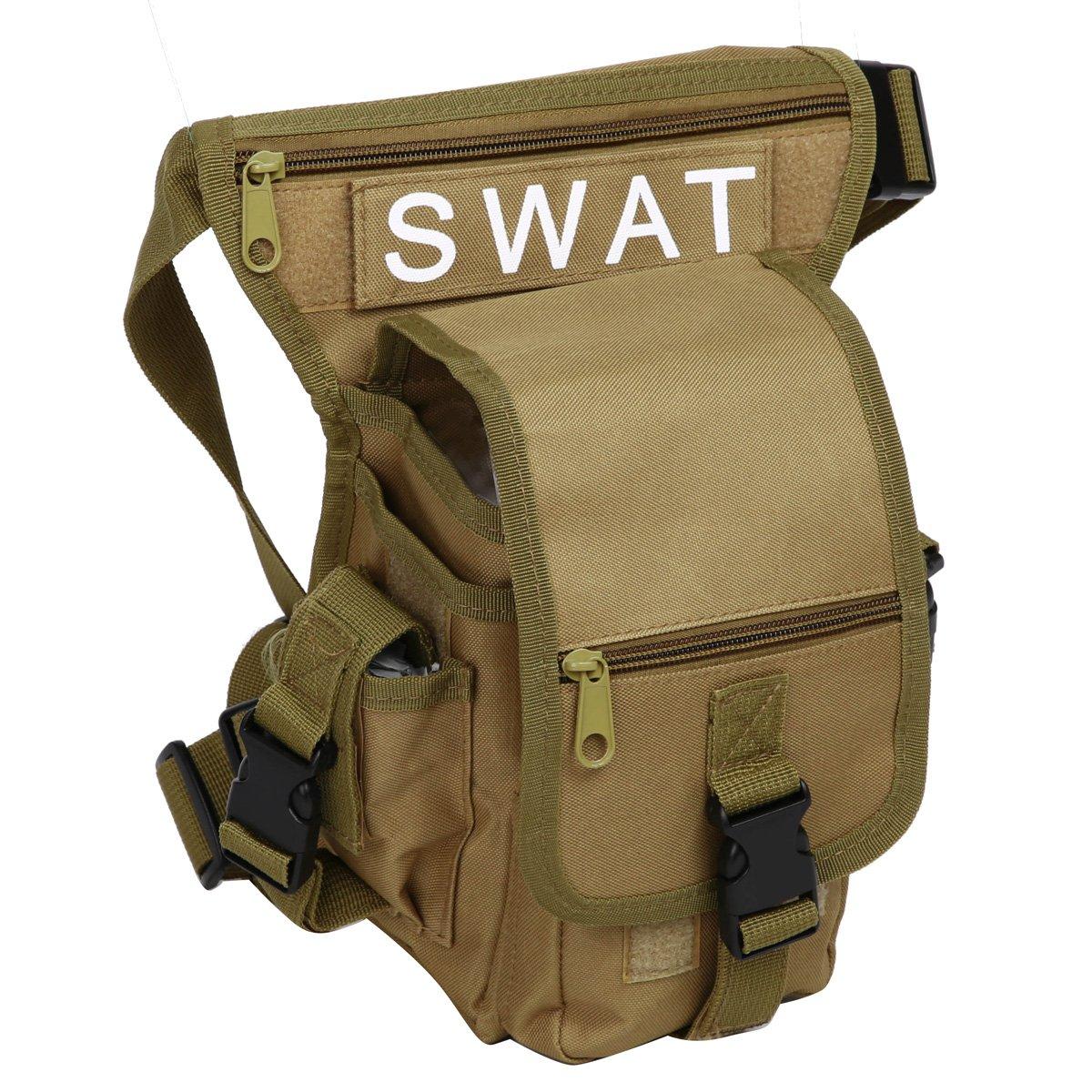 size 40 e2b45 dccfd Cintura mochilas Bolso o de Tela Pierna Eshow Hombre Lona de de para qwS7Ctw