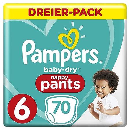 Pampers Baby-Dry Pants/Windeln, Größe 6, mit Luftkanälen, 70 Stück