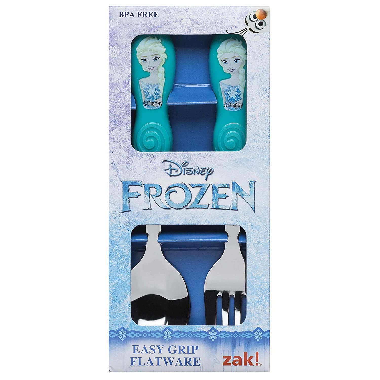 Zak Disney Frozen Elsa Easy Grip Flatware Zaktive Kids Fork Spoon Set SG/_B07HMF5BKV/_US