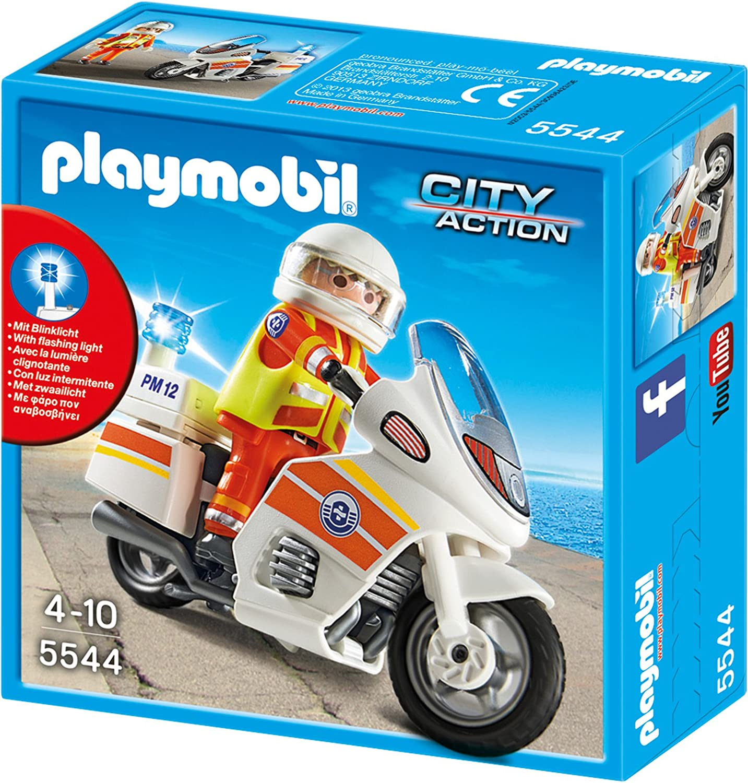 Playmobil 5544 Notarzt Motorrad mit Blinklicht