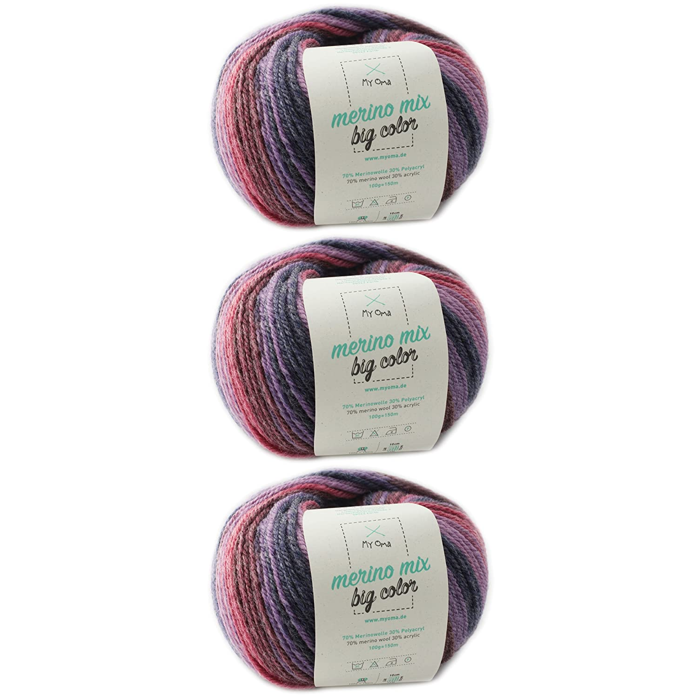 Farbverlaufsgarn 1 Knäuel Merino Mix Big Color Balance Fb 5008