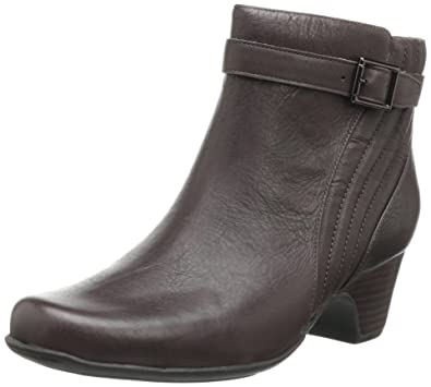 Womens Boots Clarks Leyden Scale Brown Leather