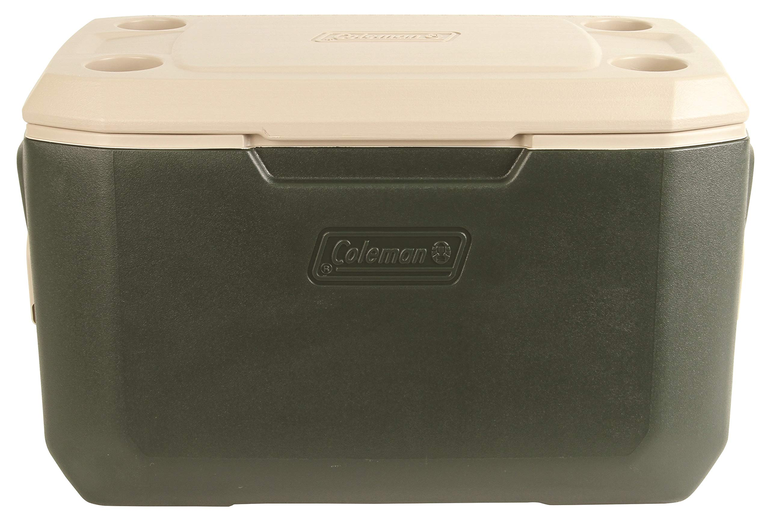 Coleman Wheeled Cooler | Xtreme Cooler Keeps Ice Up to 5 Days | Heavy-Duty 70-Quart Cooler with Wheels for Camping, BBQs, Tailgating & Outdoor Activities (Green, 70-Quart)