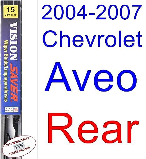 2004 – 2007 Chevrolet Aveo hoja de limpiaparabrisas de repuesto Set/Kit (Saver Automotive
