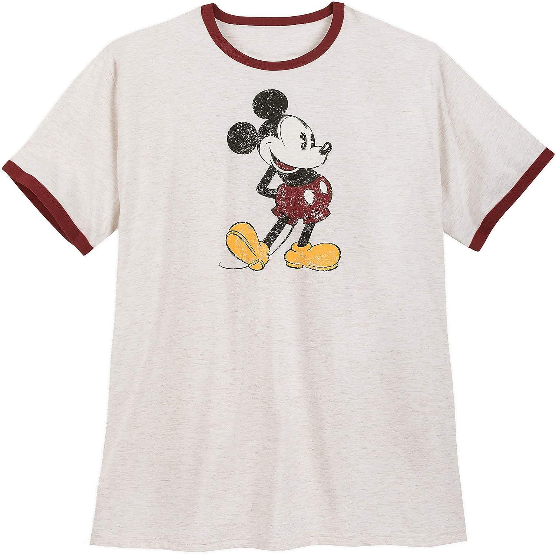 Disney Mickey Mouse Allover Ringer T-Shirt for Women Extended Size Multi