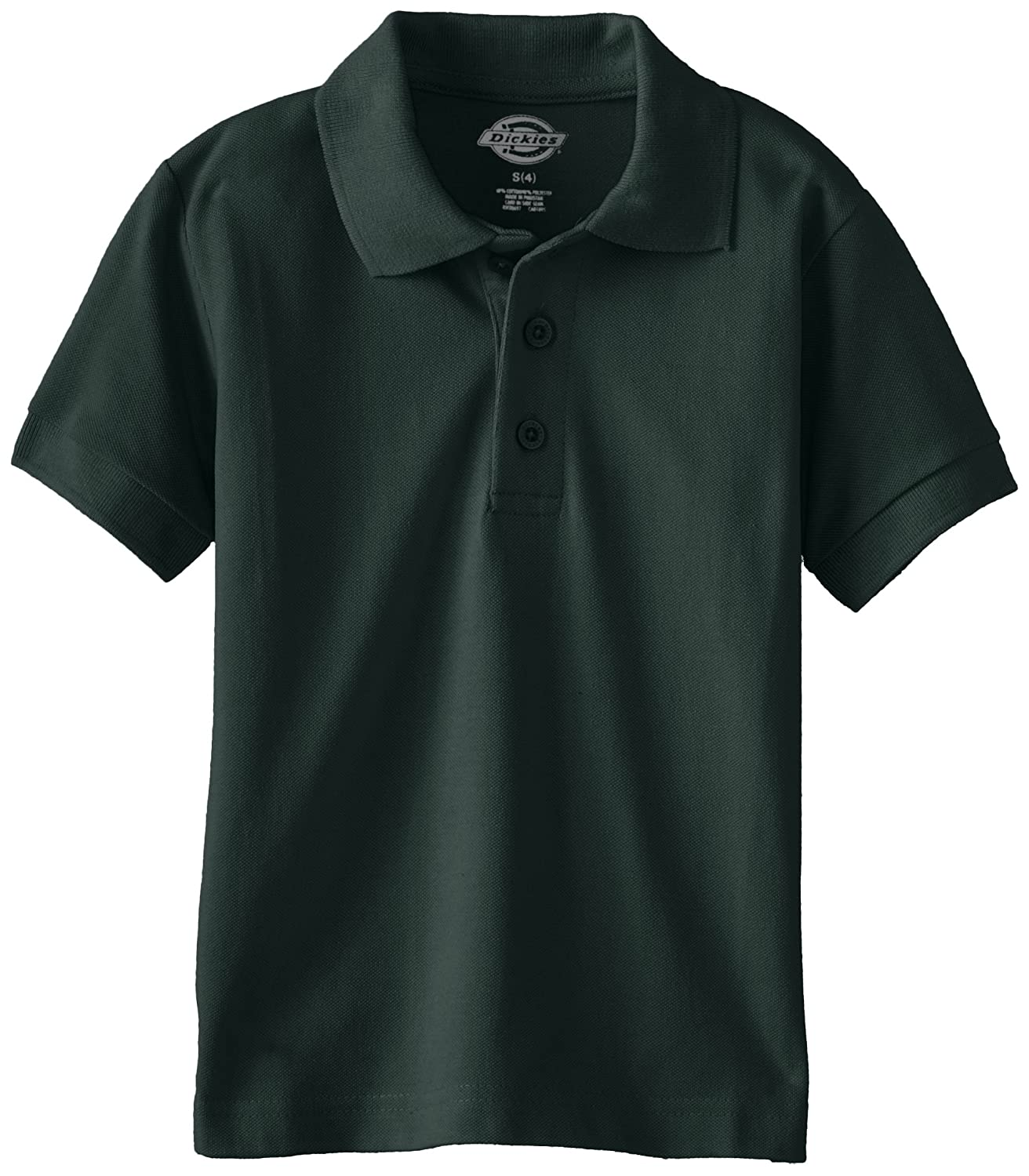 Dickies Boys' Short Sleeve Pique Polo Moisture Wicking Tagless Polyester Dickies Boys 8-20 KS4552