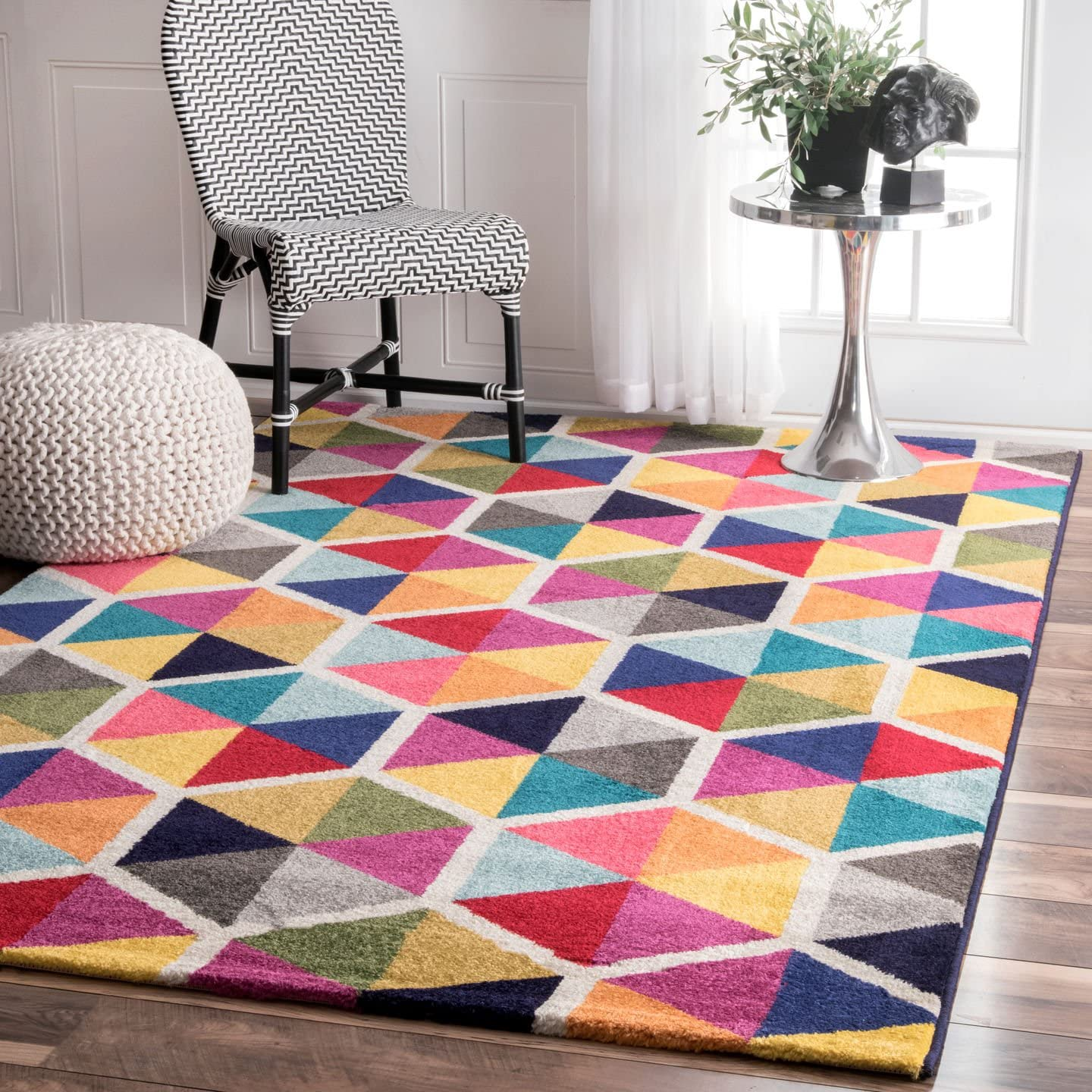 nuLOOM Contemporary Geometric Maris Triangles Area Rug, 4 1 x 6 , Multi