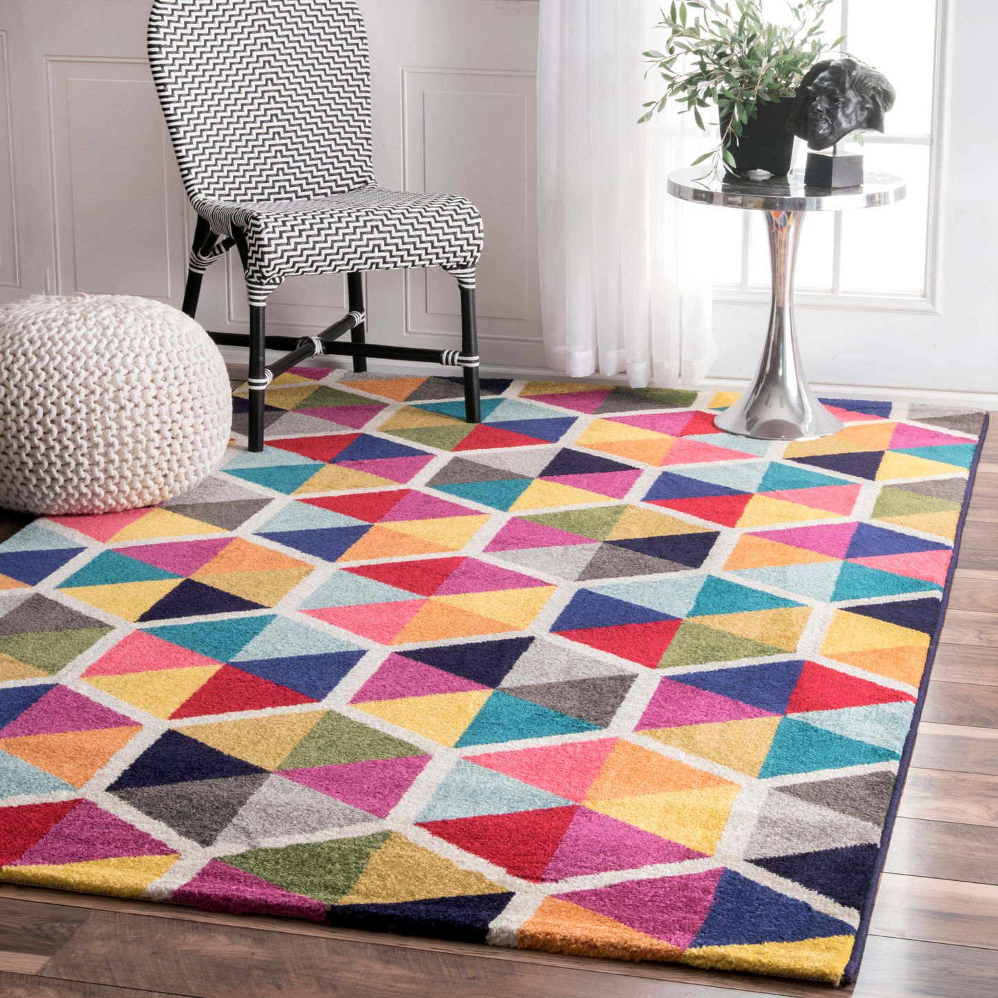 nuLOOM Maris Triangles Area Rug, 5 x 8 , Multi