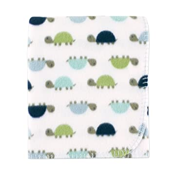 96e334f0ccb4 Amazon.com: Luvable Friends Printed Fleece Blanket, Turtles: Baby