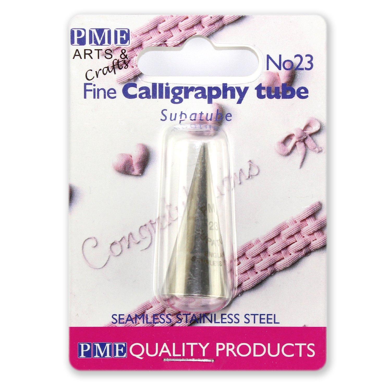 Caligrafía supatube pequeñas-Acero Inoxidable-piping//nozzle//tip Decoración De PME