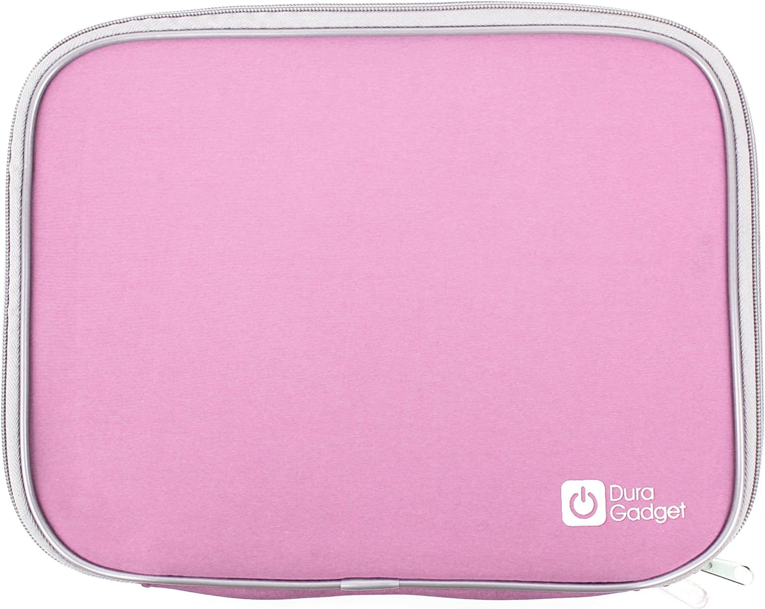 "DURAGADGET Pink ""Travel"" Water Resistant & Shock Absorbent Neoprene Laptop Carry Case With Dual Zips For Acer AC710 C7 Chromebook (Gloss Grey)-(11.6 inch, Intel Celeron 847 1.1GHz, 320GB HDD, Integrated Graphics, Chrome OS) And Acer Aspire V5-171-323a4G50ass 11,6"" Windows 8"