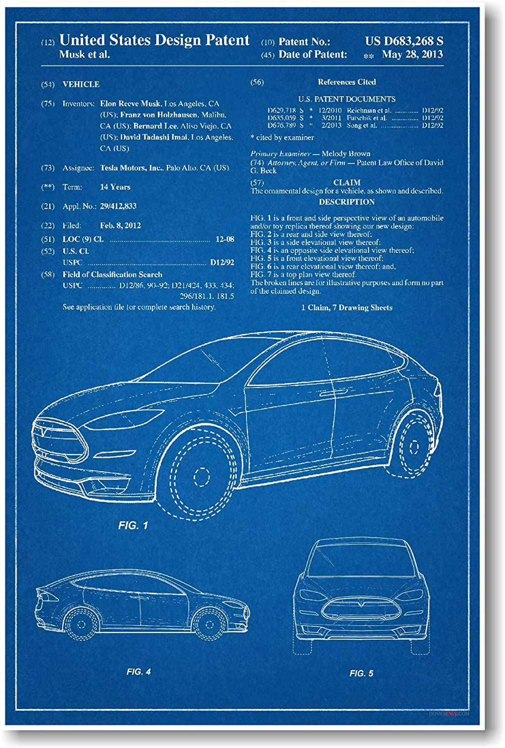 Tesla Blueprint Art Images Blueprint Design And
