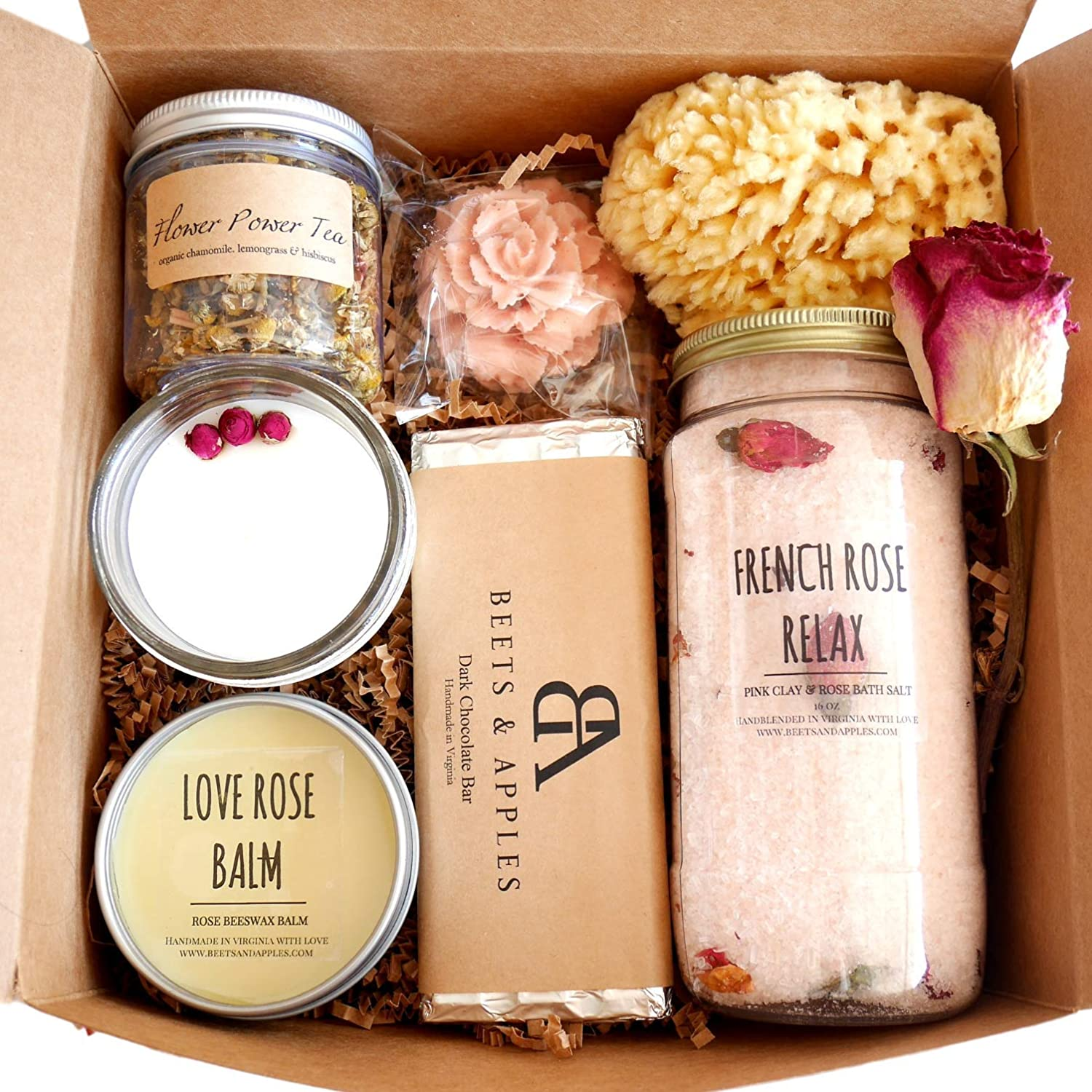Rose spa gift set. Self care gifts for coworkers. Homemade wellness gifts. wellness experience gifts. Wellness inspired gifts. gifts for wellness freaks. Wellness holiday gifts.