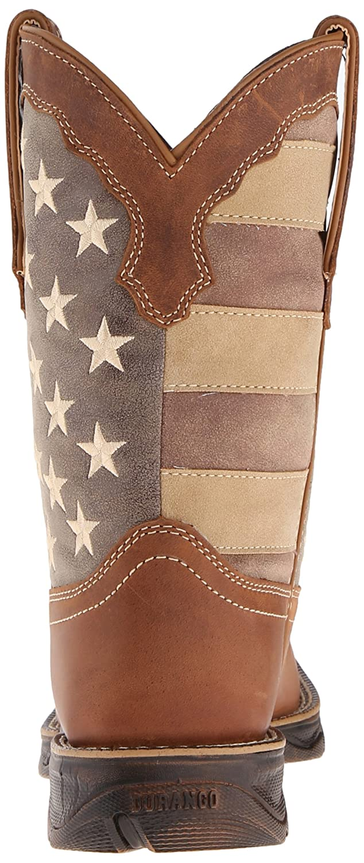 Durango Women's DRD0107 Western Boot B016W1OSC6 6 B(M) US|Brown/Faded Union Flag