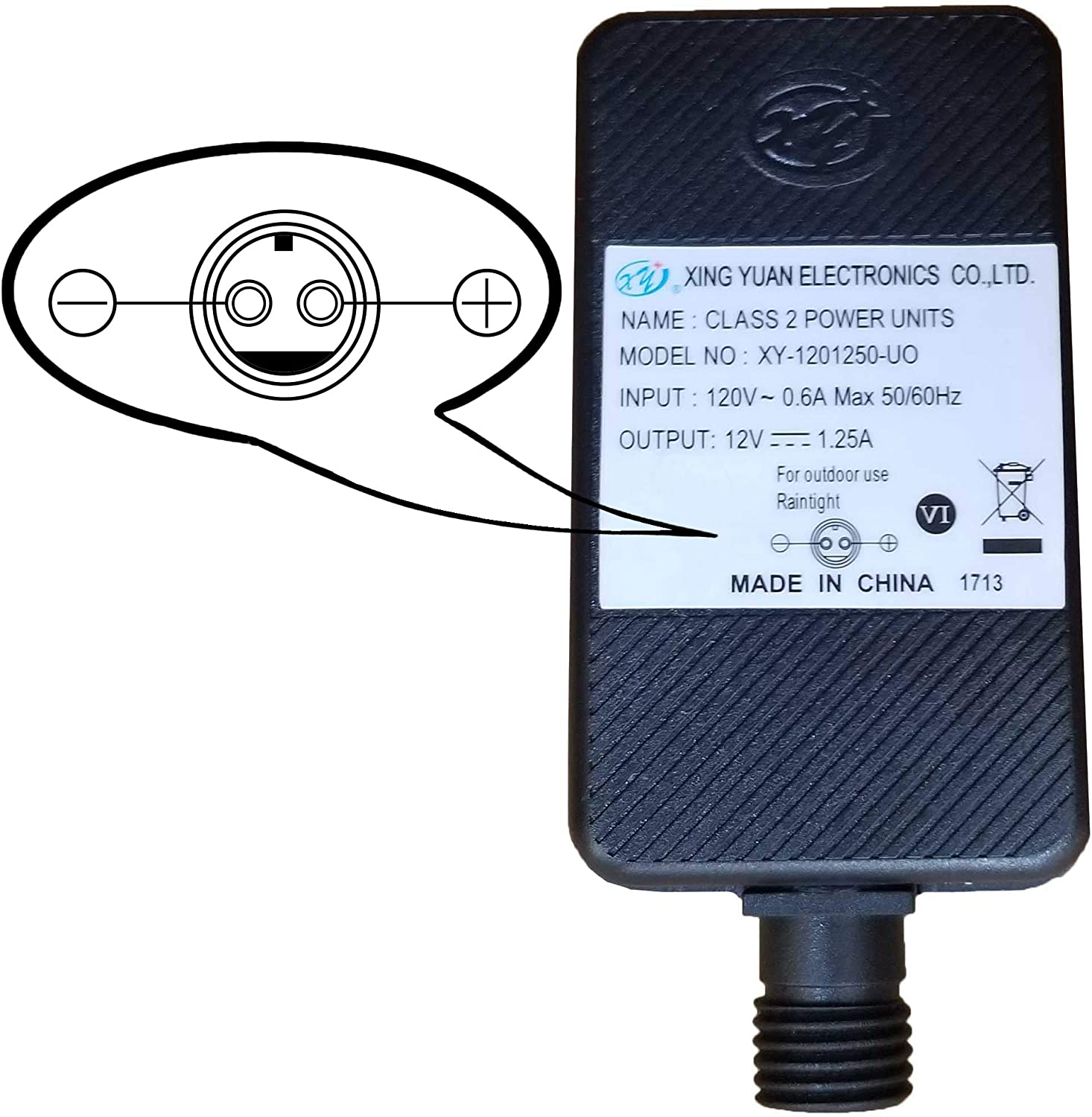 Replacement Yard Inflatable Adapter Power Supply Adaptor 12Vdc 1.25A 1250mA 1.25Amp UL or ETL Listed 12V for Home Lawn Yard Garden Holiday Inflatable Decorations