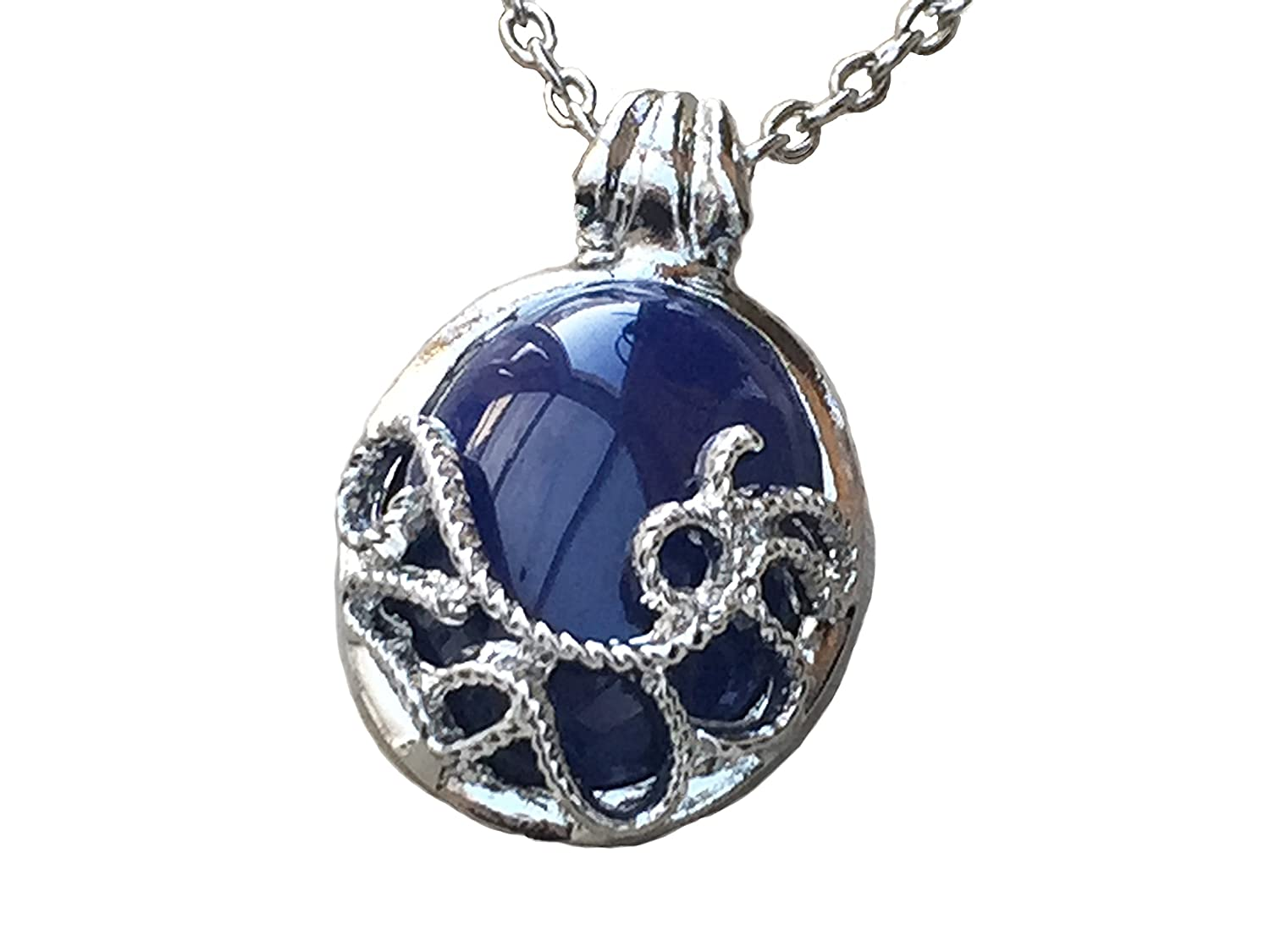 Tv inspired vampire blue pendant necklace amazon jewellery aloadofball Images
