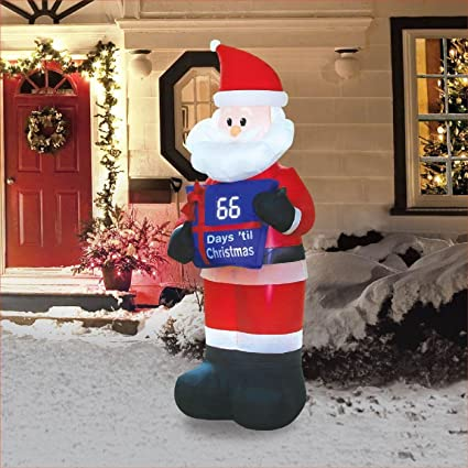christmas inflatable 7 countdown santa airblown decoration - Christmas Outdoor Inflatables