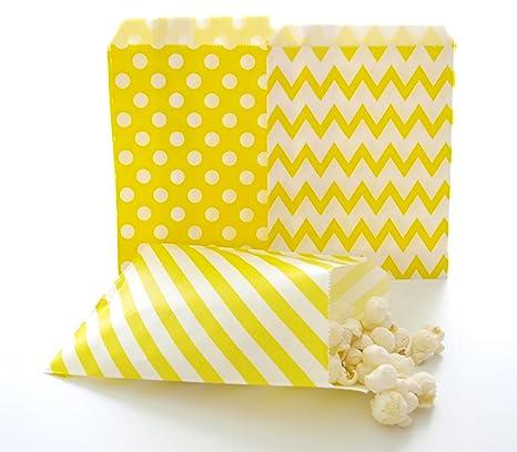 Amazon.com: Amarillo Candy Bolsas, bolsas de papel ...