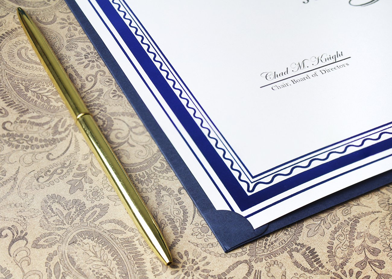 12-Pack Certificate Holder - Diploma Cover, Document Cover for Letter-Sized Award Certificates, Blue, 11.2 x 8.7 inches by Best Paper Greetings (Image #8)
