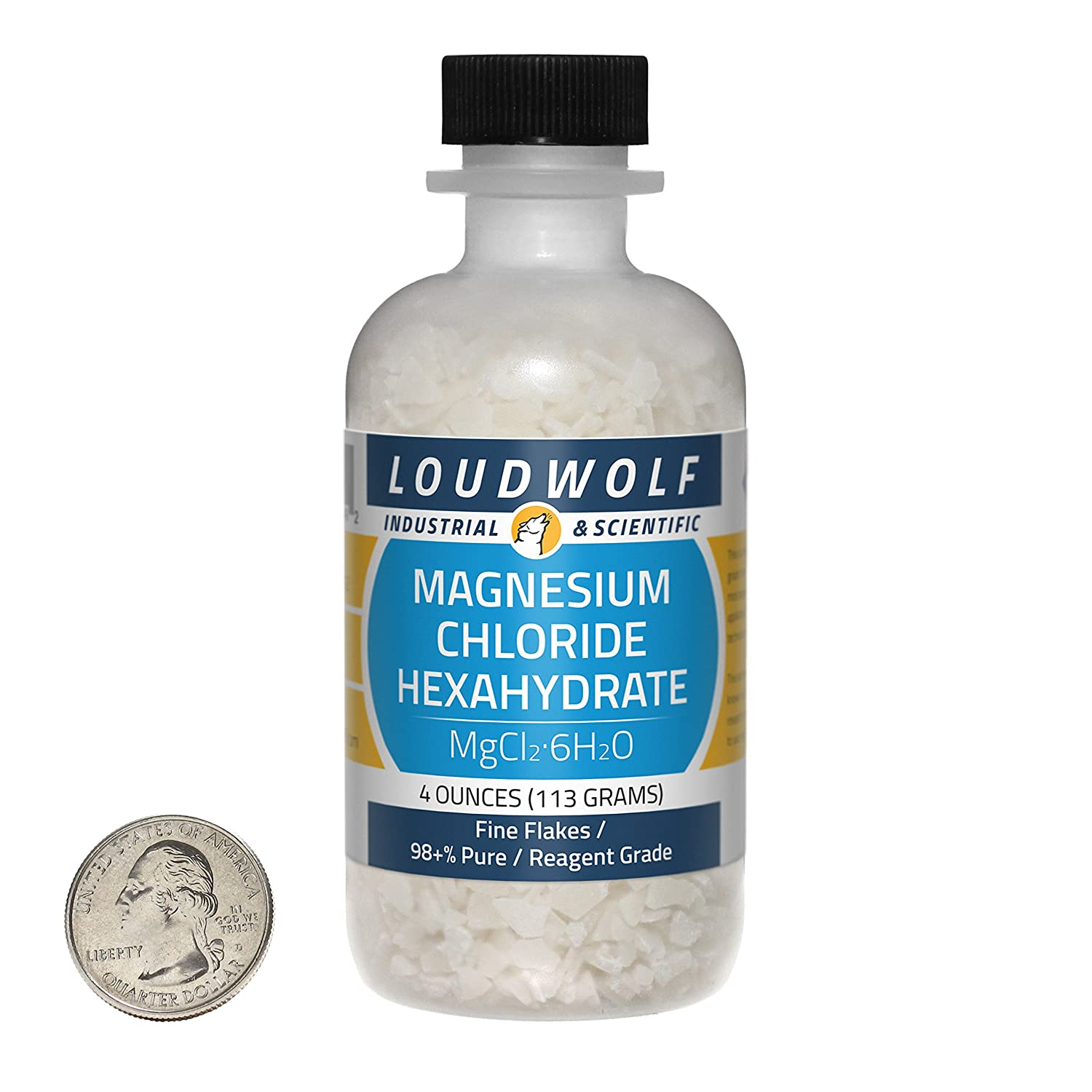 Amazon.com: Magnesium Chloride Hexahydrate / Fine Flakes / 4 Ounces / 98+% Pure / SHIPS FAST FROM USA by Loudwolf: Health & Personal Care