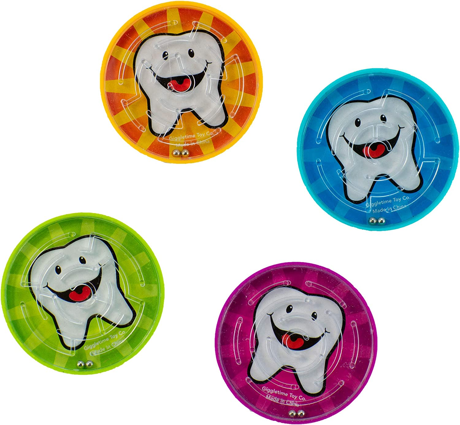 Giggle Time Dental Puzzle Game - (36) Pieces - Assorted Colors - for Kids, Boys and Girls, Party Favors, Pinata Stuffers, Children's Gift Bags, Carnival Prizes