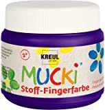 Mucki 28110 - Stoff Fingerfarbe, 150 ml, violett