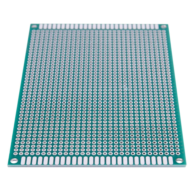 Gaoominy 3Pcs Prototype double face Prototype carte de circuit imprime 8cm x 12cm