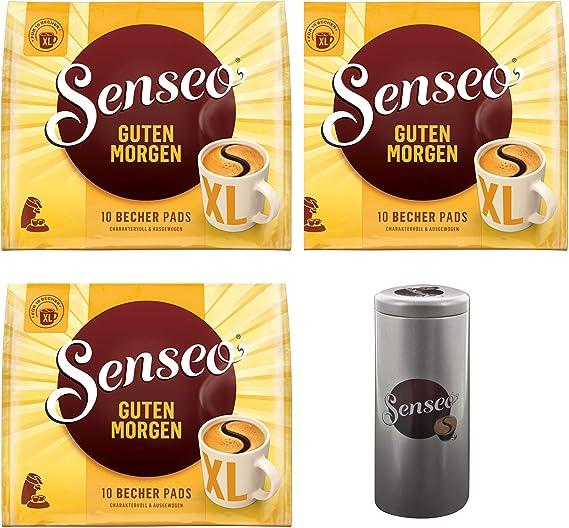 Senseo - Juego de 3 monodosis de café, tamaño XL, con Caja de 10 ...