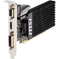 MSI GT 710 1GD3H LP NVIDIA GeForce GT 710 1GB - Tarjeta gráfica (Pasivo, LP/ATX, NVIDIA, GeForce GT 710, GDDR3, PCI Express x16 2.0)