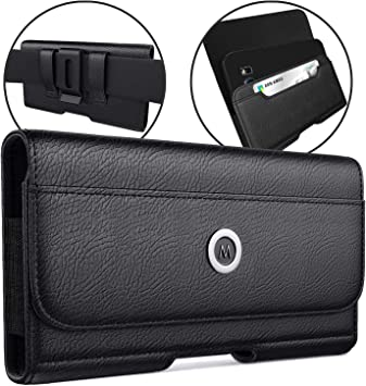 Xs Max Leather Belt Case with Clip Cell Phone Pouch Belt Holder for Apple iPhone 8 Plus De-Bin iPhone Xs Max iPhone 7 Plus 8 Plus 6s Plus Holster Fits Phone w//Otterbox Lifeproof Battery Case on