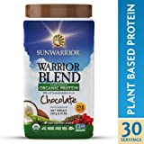 Sunwarrior - Warrior Blend, Raw, Plant Based, Organic Protein, Chocolate, 30 servings