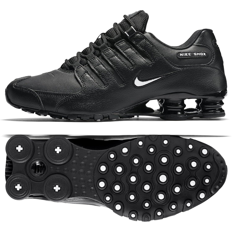 Compre Popular Nike Hombre Shox NZ Zapatos para correr Negro/Blanco-Negro-15 D(M) US Hombre Running Negro Blanco Negro 677AI