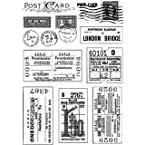 Crafty Individuals CI-239 Unmounted Rubber Stamp, Vintage Tickets and Postmarks