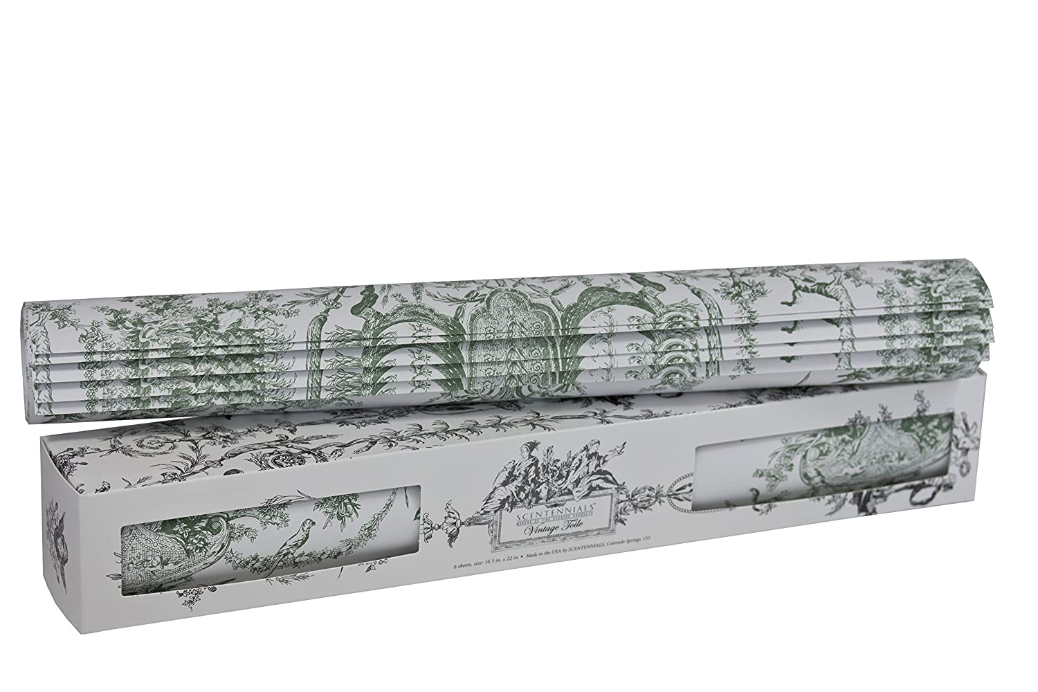 Vintage Toile Scented Drawer Liners From Scentennials (Green) Scentennials Products