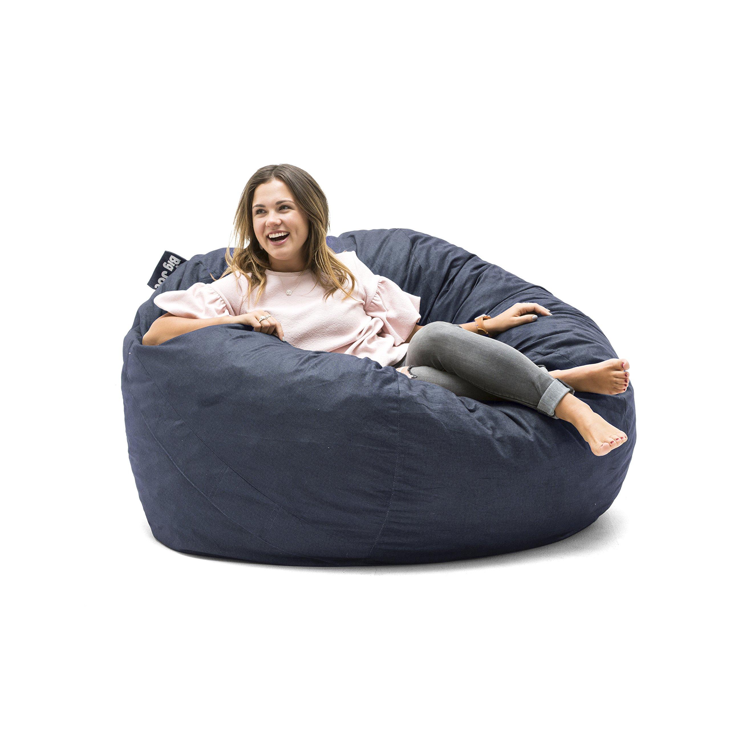 Big Joe 0010657 Fuf Foam Filled Bean Bag Chair, Large, Cobalt Lenox by Big Joe