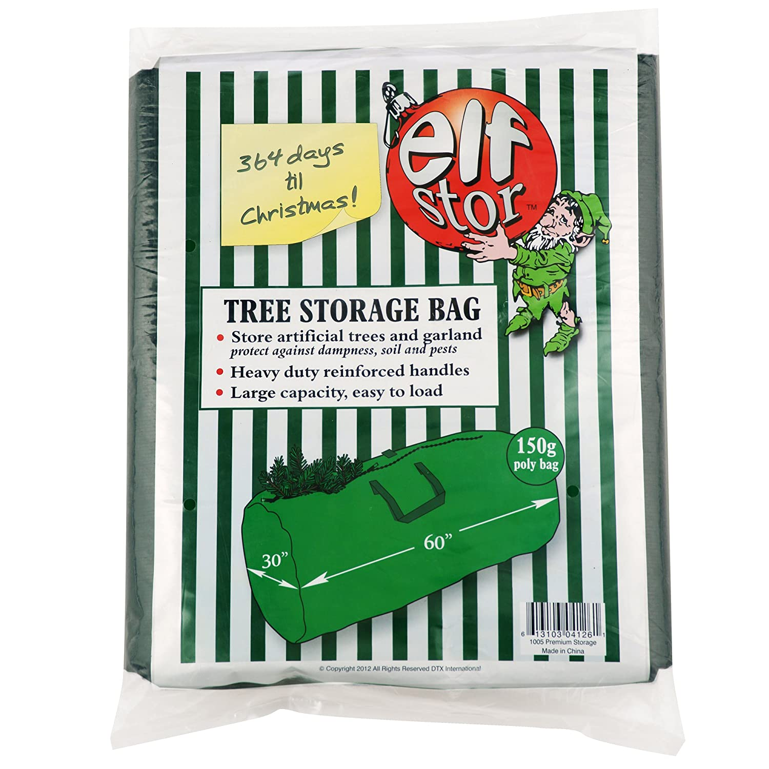 Amazoncom Elf Stor Deluxe Green Holiday Christmas Tree Storage Bag