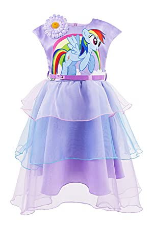 Katara 1717 – Pegatina My Little Pony Verano Vestido con flor y arco iris colores como