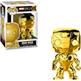 Funko Pop Marvel: Marvel Studios 10 - Iron Man (Gold Chrome) Collectible Figure, Multicolor
