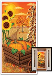 Beistle 1-Pack Decorative Fall Door Cover, 30-Inch by 5-Feet