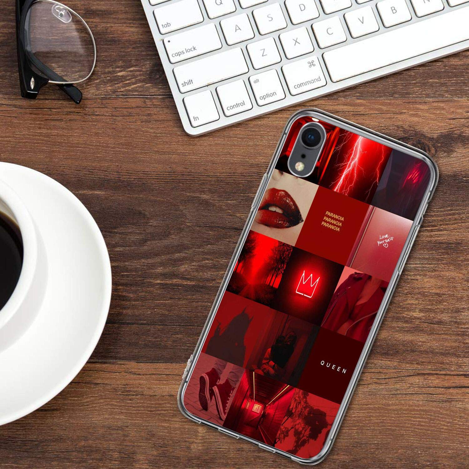 Amazoncom Red Wallpaper Clear Uv Printing Cell Phone Case