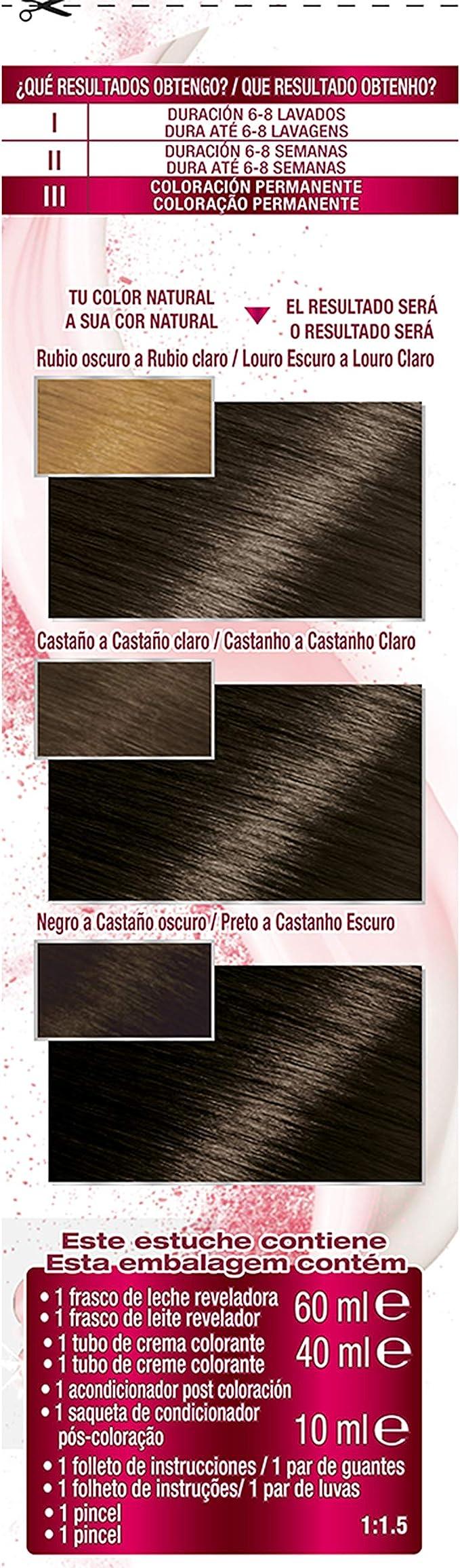 Garnier Color Sensation - Tinte Permanente Castaño Oscuro 3.0 ...