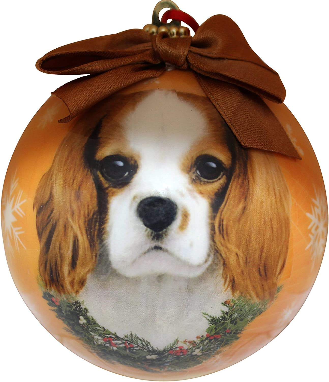 Amazon Com King Charles Cavalier Christmas Ornament Shatter Proof Ball Pet Supplies