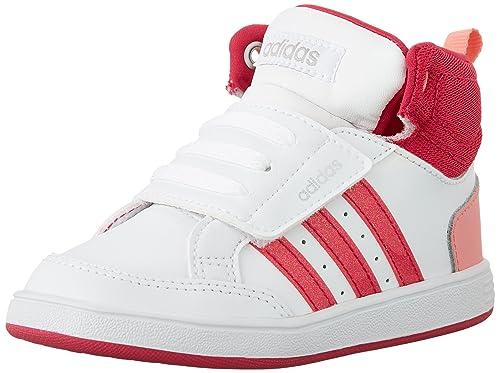 4ea1dfa319899 adidas Infant Hoops CMF Mid Basketball Shoes, White/Bold Pink/Vista ...