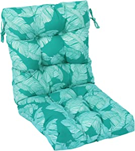 RACLVAY Outdoor Bench Cushion, 48 x 21 inches Seat Back Chair Tufted Pillow Slipproof Straps, Fixed Firmly, Full-Filled, Comfortable Sitting